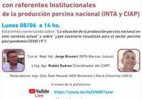 Charla en vivo con referentes Institucionales de la producción porcina (Inta y Ciap)