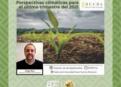 """""""Perspectivas climáticas para el último trimestre del 2021"""""""